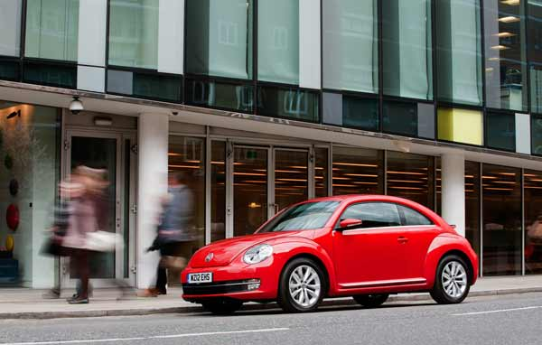 Design cues from the original Beetle launched 73 years ago are still evident
