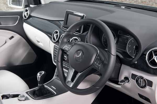 The interior of the B-Class