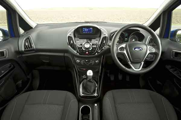The B-MAX is the first  Ford to offer the company's acclaimed SYNC system.