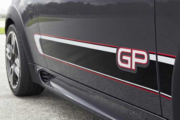 """There are  """"GP""""-badged side stripes running between the front and rear wheel arches"""