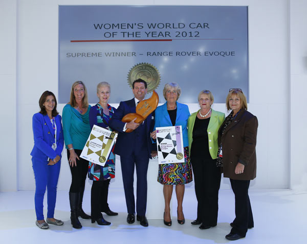 The Range Rover Evoque was the Women's World Car of the Year 2012