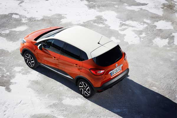 The Captur is slightly longer than the Clio but slightly shorter than the Nissan Juke