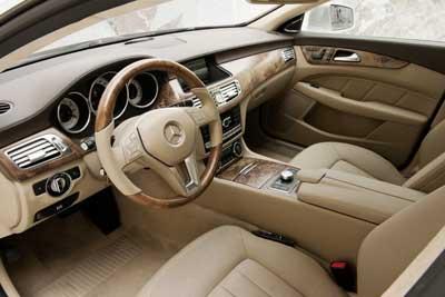 Inside the Mercedes
