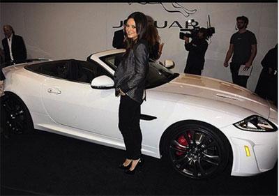Mila Kunis and her Jaguar XKR S