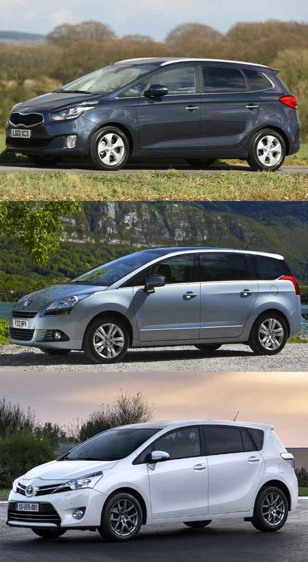 Kia Carens, Peugeot 5008, Toyota Verso