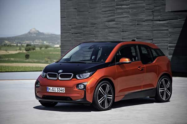 The i3 is the first mass-production vehicle made with a carbon-fiber-reinforced-plastic