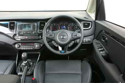 Inside the Kia Carens