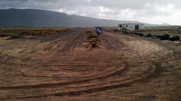Dual Carriageway Dirt Track at San Juan, Lanzarote