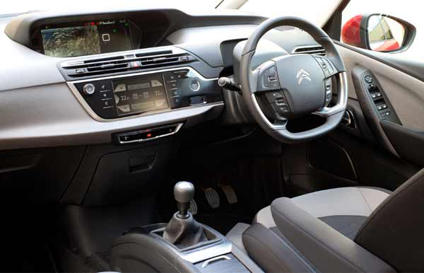 Technologies include a 7-inch Touch Drive interface combined with a HD 12-inch panoramic screen