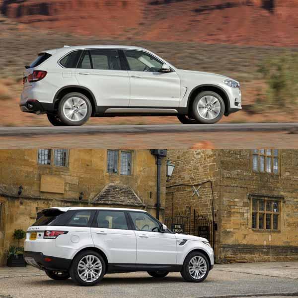 BMW X5 (top) Range Rover Sport