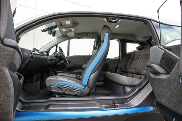 The i3 is available with four different interior worlds: Standard, Loft, Lodge and Suite.