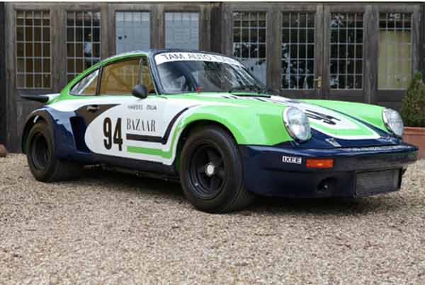 Meet the Porsche RSR Mila Schön racer in Harper's Baazar colours at 'Salute to Style' at the Hurlingham Club. One of only 54 genuine examples built by the Porsche factory racing department