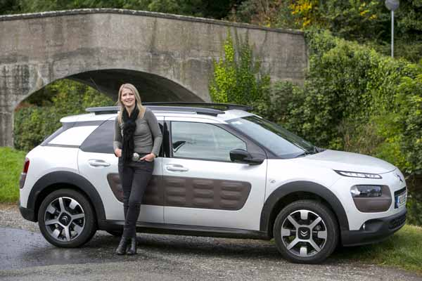 Geraldine Herbert with her car of the year for 2014 – Citroen C4 Cactus. Pic by Kyran O'Brien