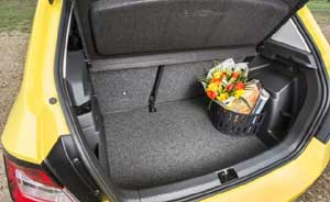 The Fabia has a 330-litre boot capacity