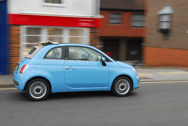 fiat 500 convertible s - wheels for women